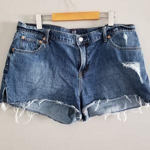 GAP side slit destroyed denim shorts